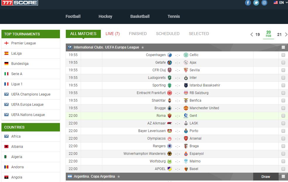 Football Livescore In 2020 Football Score Soccer Results Football Results