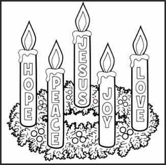16 Advent Wreath Colouring Page Advent Coloring Christmas Advent Wreath Christmas Coloring Pages