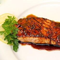 Honey, Ginger, & Coliander Glazed Salmon