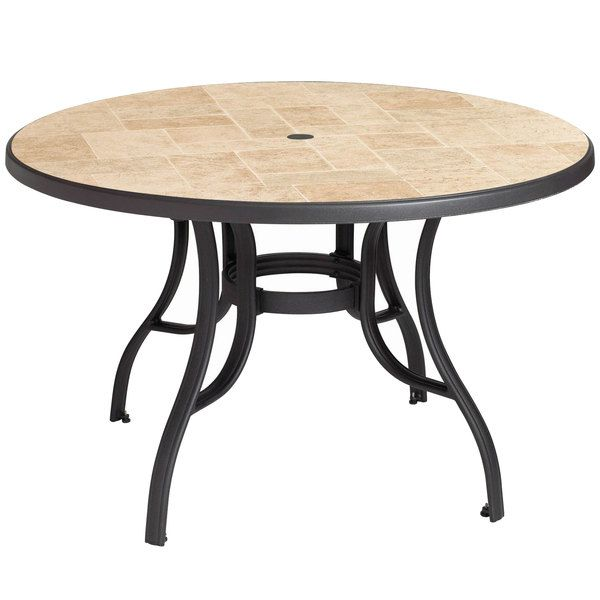 grosfillex us527102 louisiana 48 toscana and charcoal round resin rh pinterest com