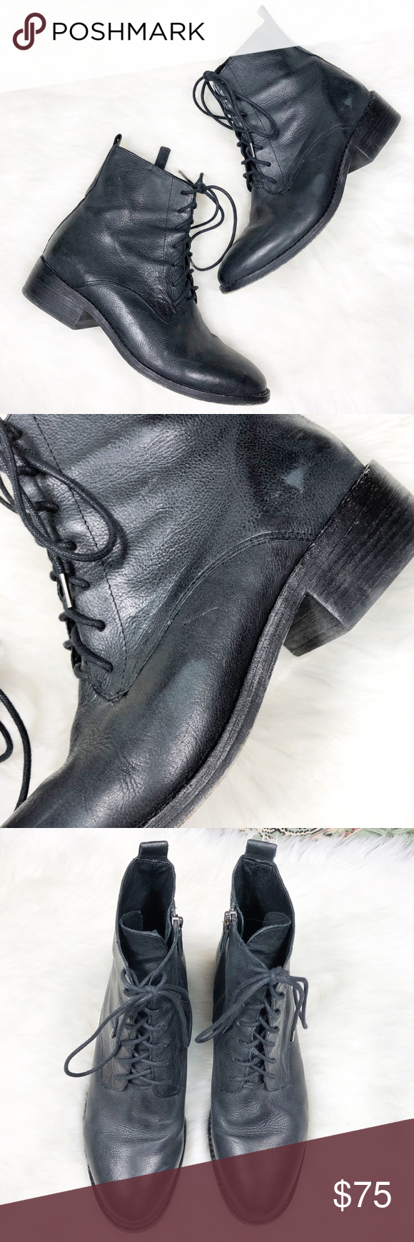 2b96293d0 Eileen Fisher Leather Lace Up Bravo Booties Boots Gorgeous ankle boots by  Eileen Fisher that add