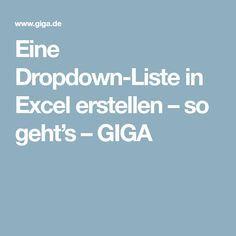 Excel: Dropdown-Liste erstellen (Auswahlliste) – so geht's