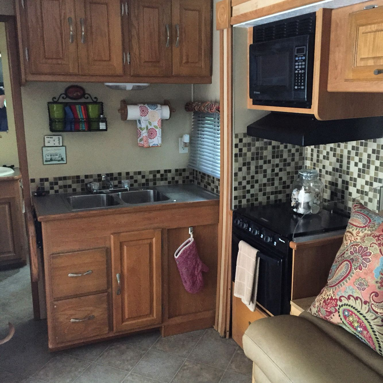 Rv Coachmen Kitchen Remodel Paint Over Wallpaper And New