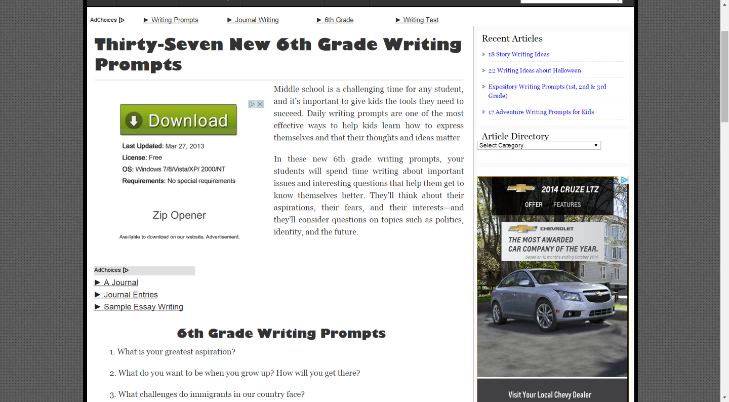 37 New Sixth Grade Writing Prompts | Writing prompts, Prompts and ...
