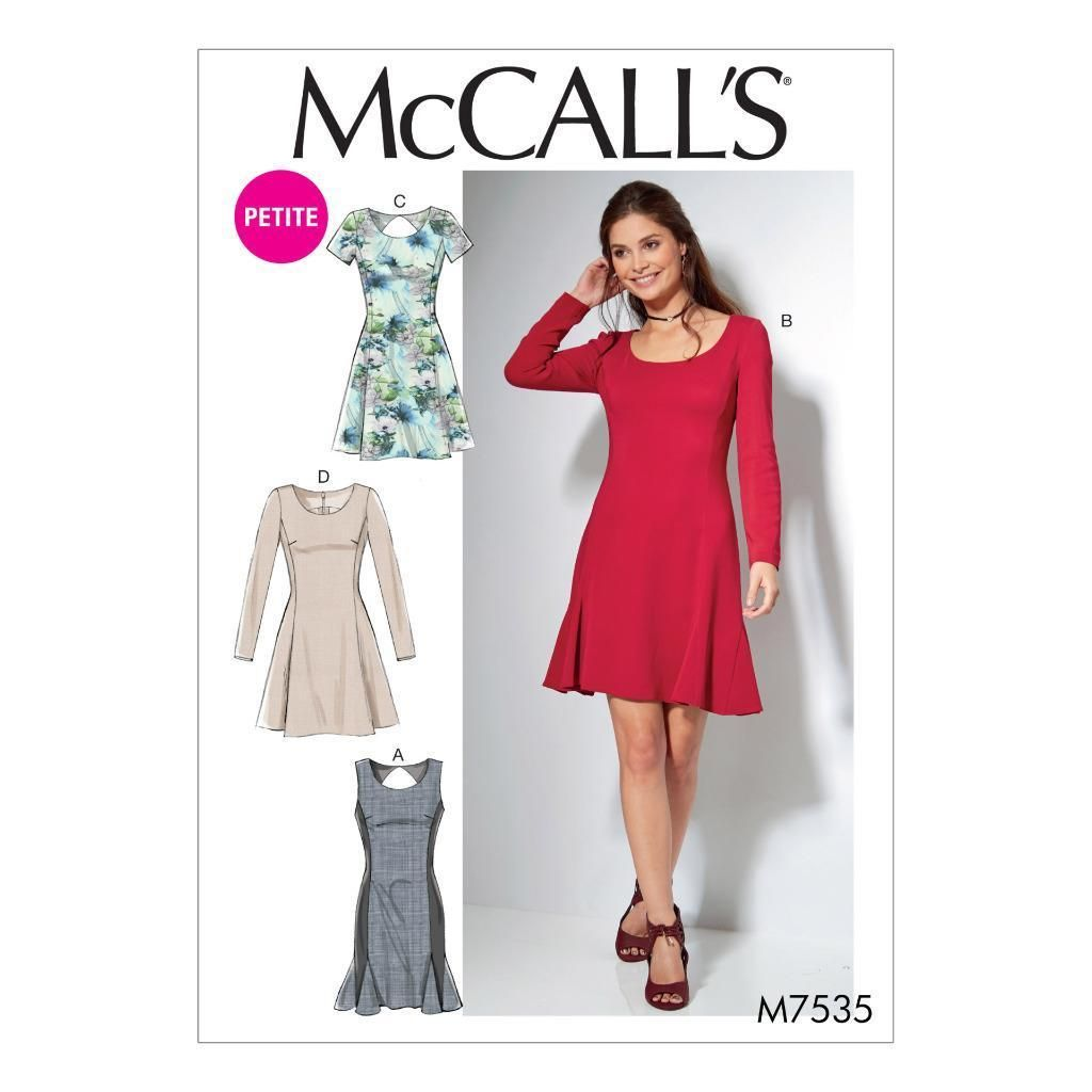 278ae83296d4 Mccall's Sewing Pattern Misses' Fitted Dresses Size 6 - 22 M7535 #ebay  #Home & Garden