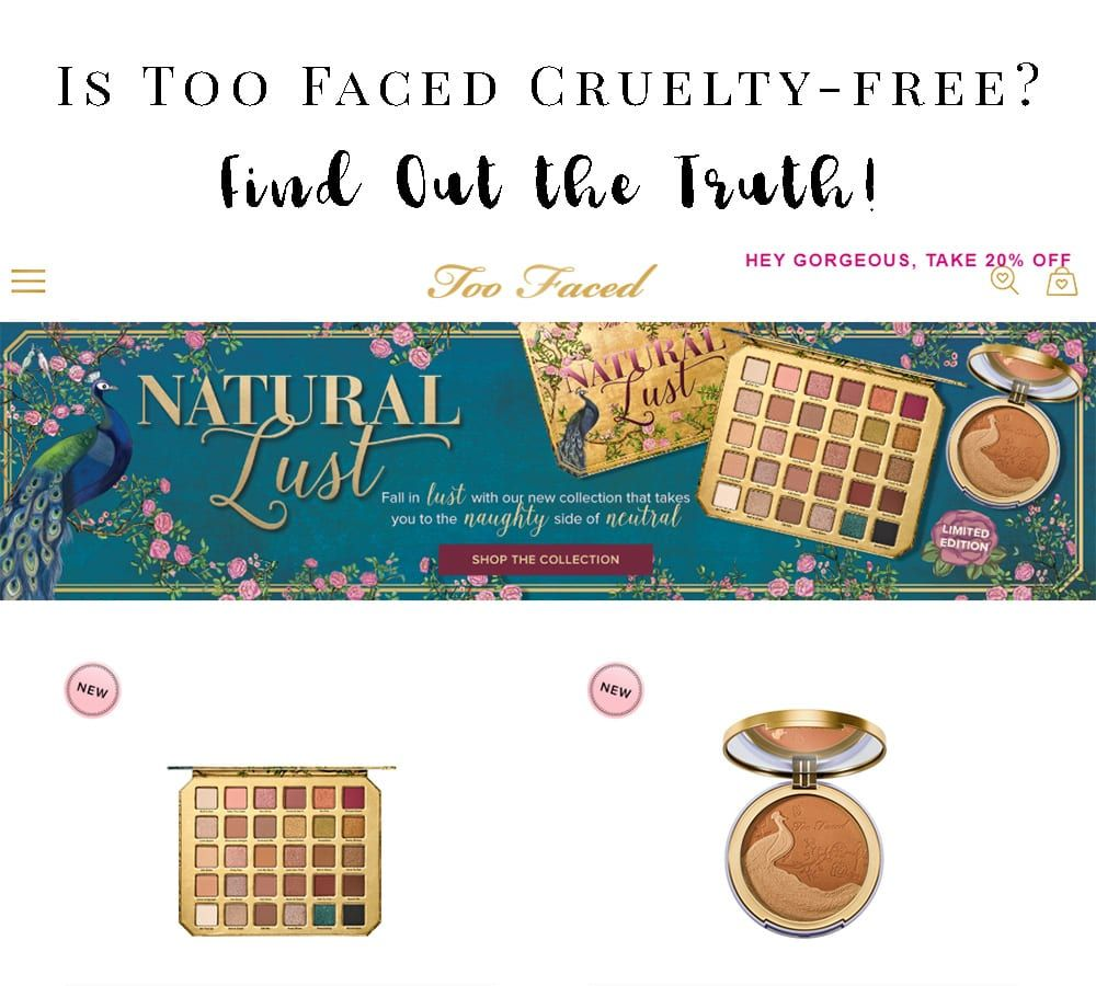 Is Too Faced crueltyfree? Are they PETA Certified