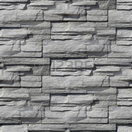 Stock Photo Decorative Stone Wall Grey Wallpaper