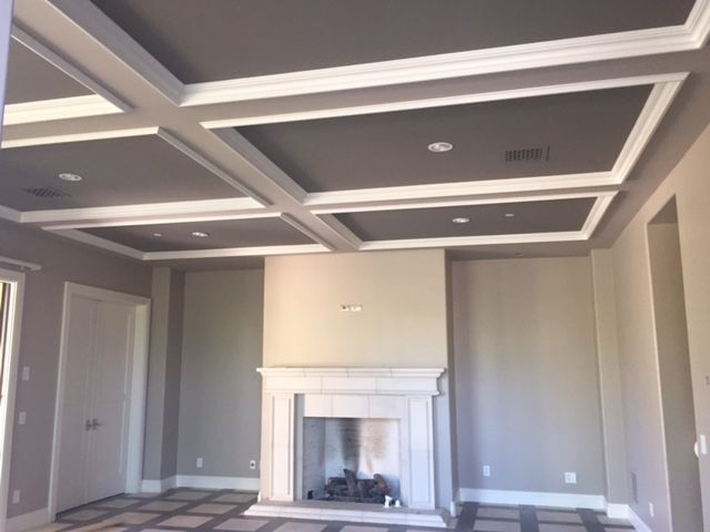 Diy Coffered Ceiling Luster Custom Homes Home Ideas