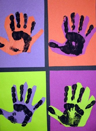 pop art warhol hands