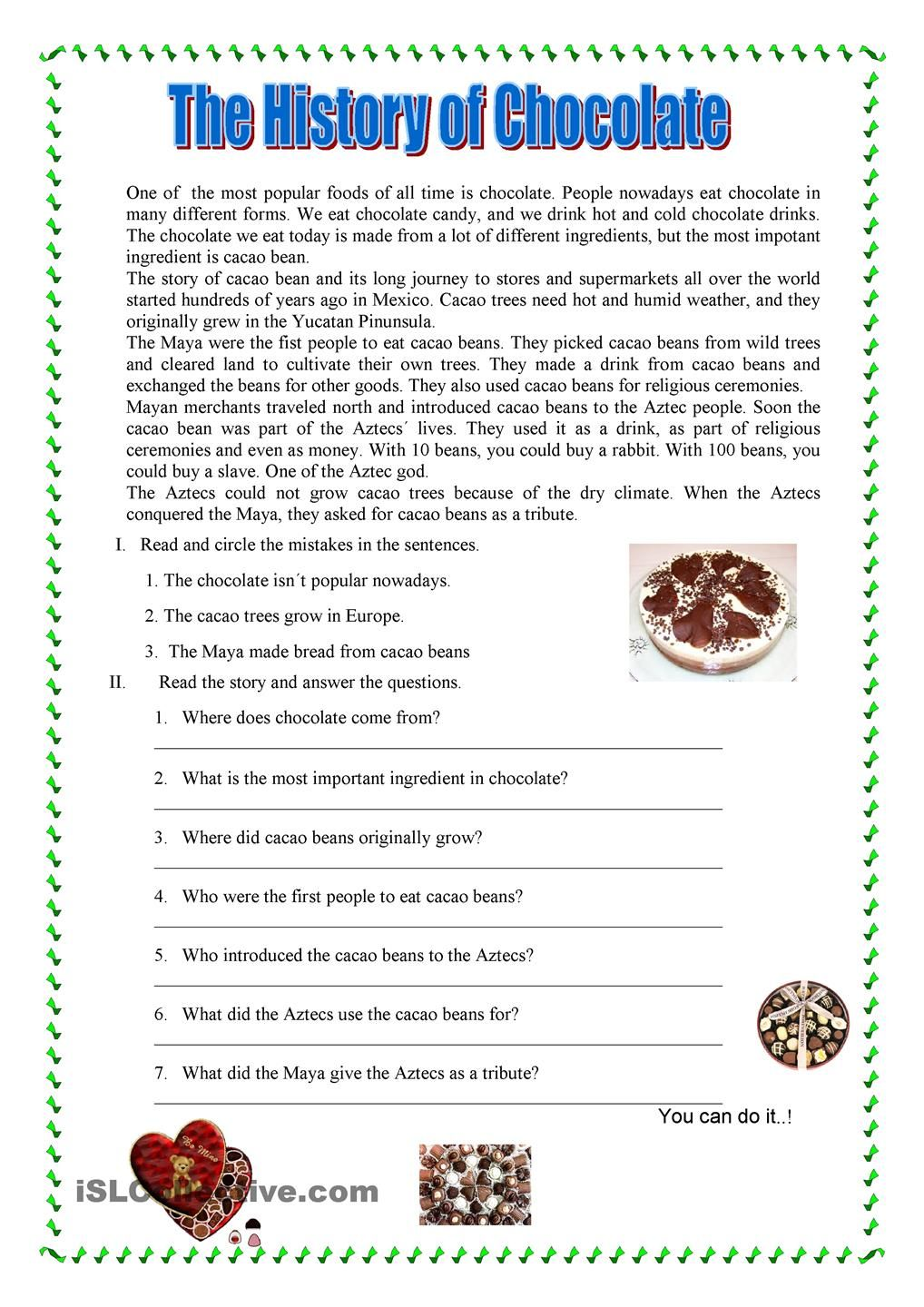 Reading Comprehension worksheet - Free ESL printable worksheets made by  teachers
