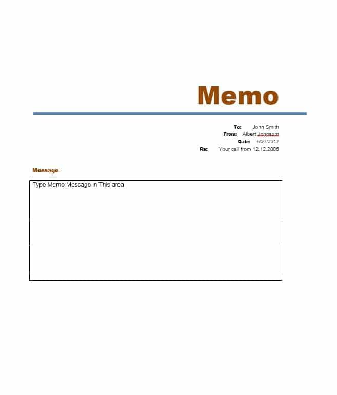 Microsoft Word Memo Format Magnificent 5 Sample Business Memo Templates Example Doc Word Pdf  05 .