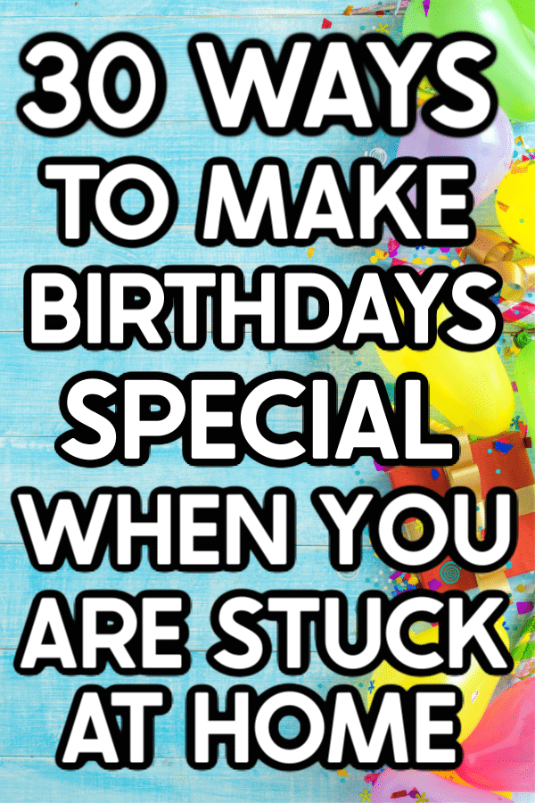 30 Birthday Party Ideas at Home - Play Party Plan