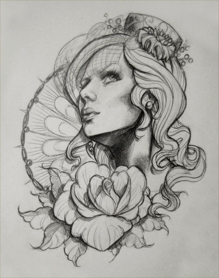 Tattoo Design Sketch 1 By Illogan On Deviantart Day Of The Dead Tattoo Designs Tattoo Sketches Mermaid Tattoo