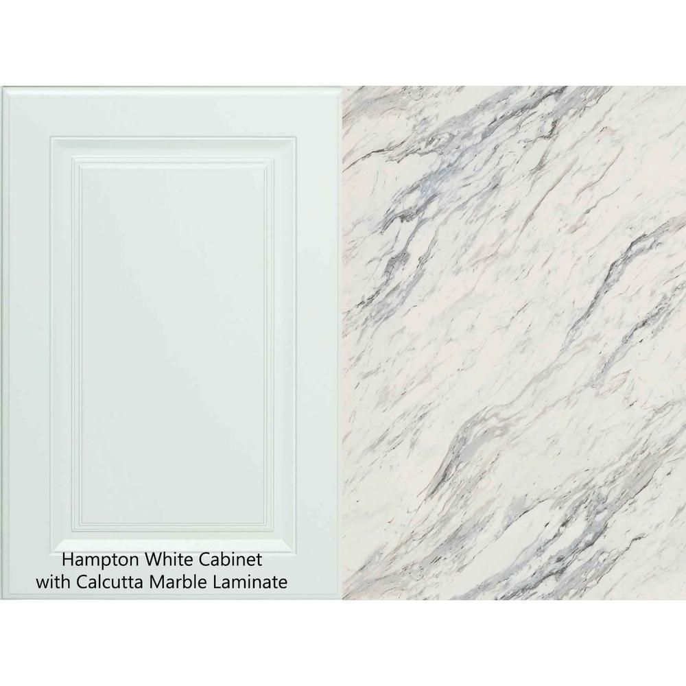 Hampton Bay 8 Ft Laminate Countertop Kit In Calcutta Marble With