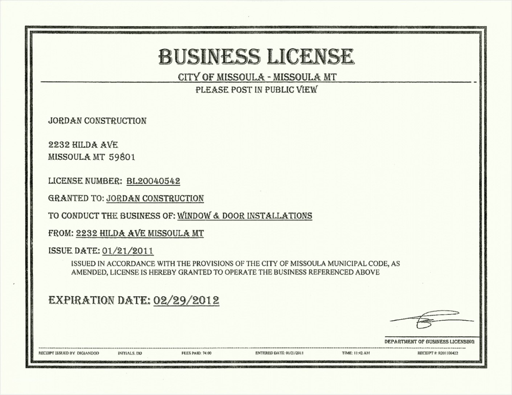 Free License Certificate Template Besttemplatess Business