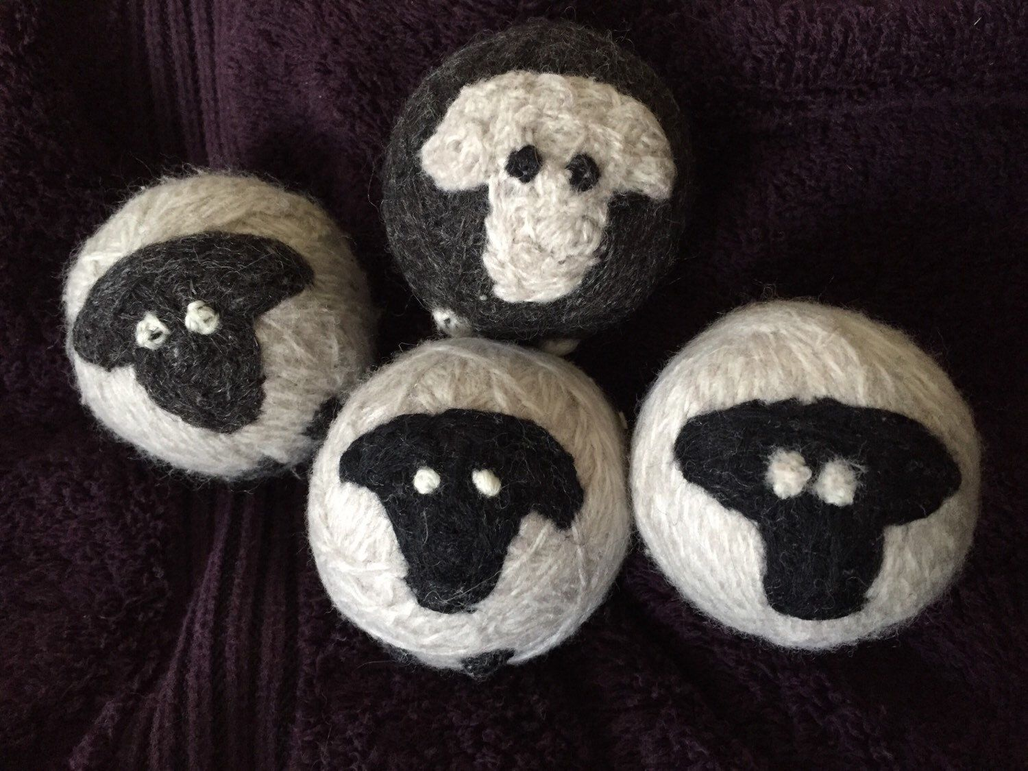 "4 Handmade 100% Wool Dryer Balls! ""The Black Sheep of the Family."" Natural Fabric Softener ! by DeesAndMees on Etsy https://www.etsy.com/listing/277649700/4-handmade-100-wool-dryer-balls-the"