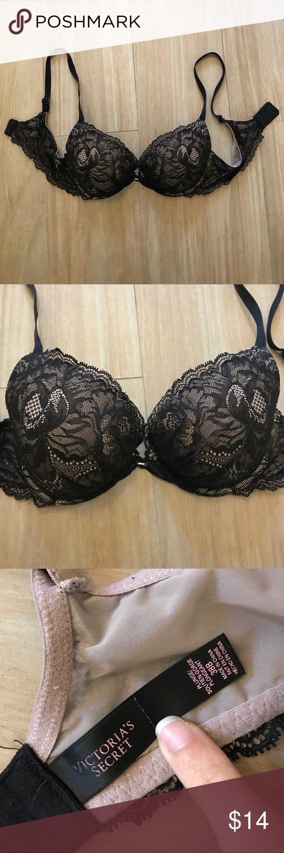 Victoria's Secret Lace Bra Victoria's Secret Very Sexy Black Lace Bra. Size  38 B. Worn around 12-15 times. In great condition with little visible signs  of ...