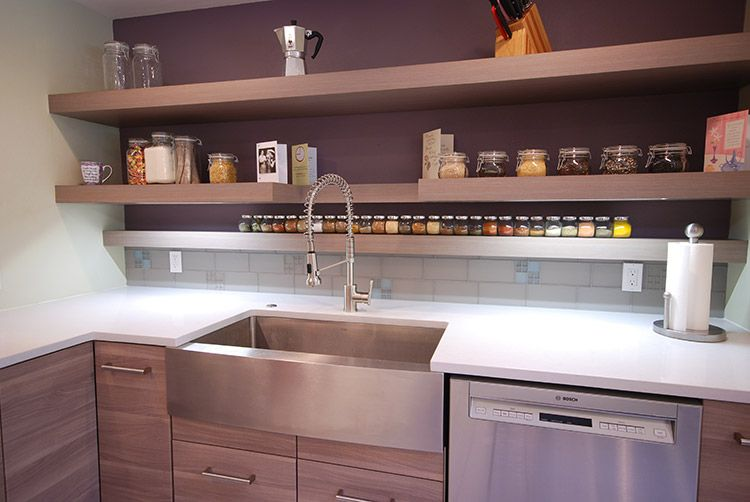 Stainless Farmhouse Drop In Sink, Shelves Instead Of
