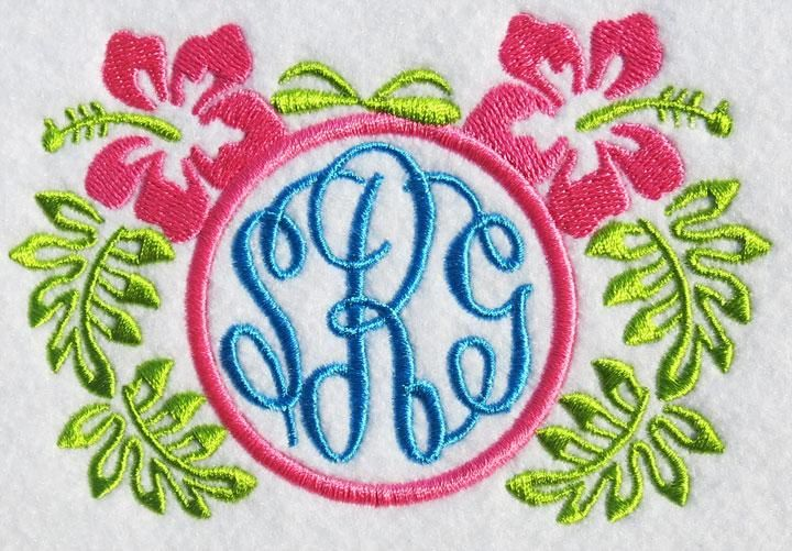 Download Hawaiian Floral Hibiscus Flowers Embroidery Frame   Apex ...