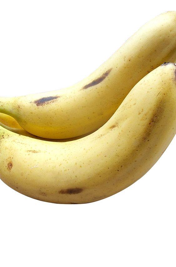 A Pair Of Fresh Bananas Over White Background Banana Banana
