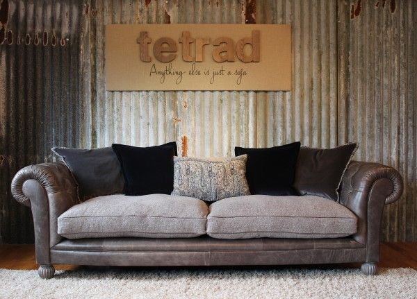 Tetrad Mixed Leather And Fabric Sofas Chairs Pinterest
