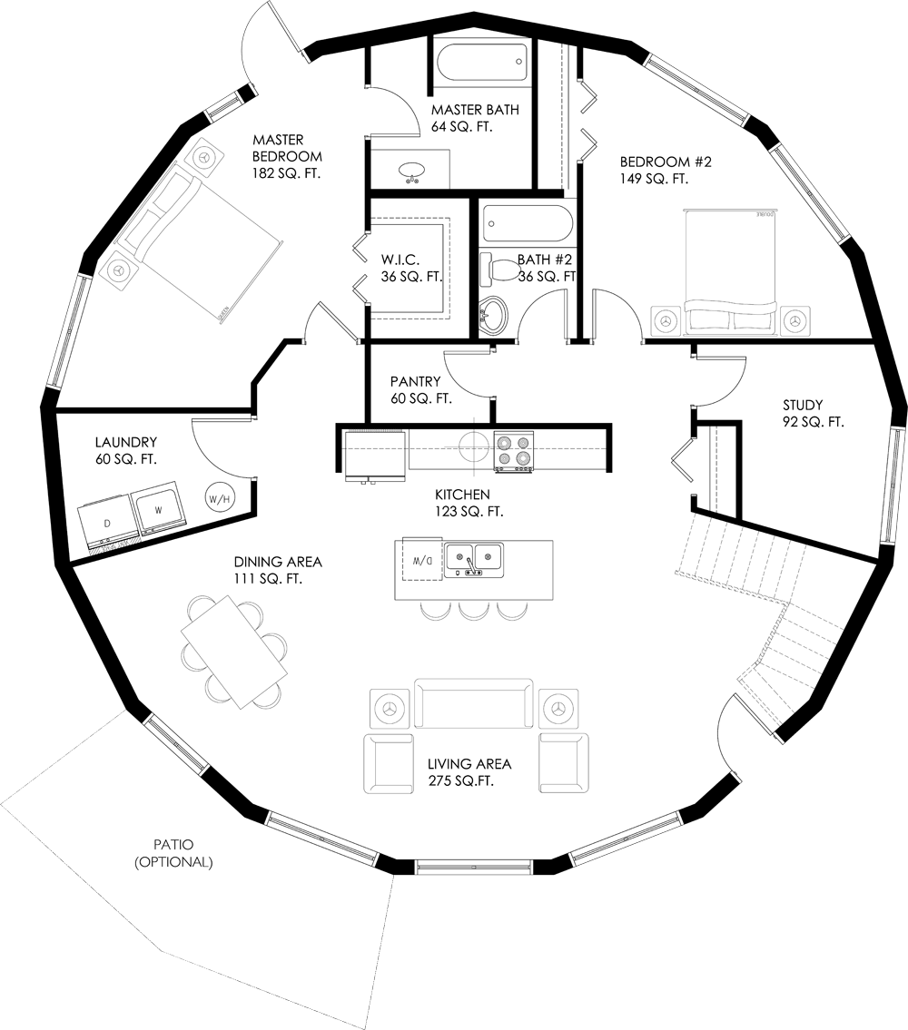 Layouts For Dome Homes Plans