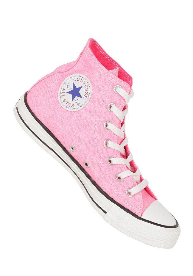 c2c20b040f25 CONVERSE Chuck Taylor All Star B.Washed Hi neon pink  planetsports