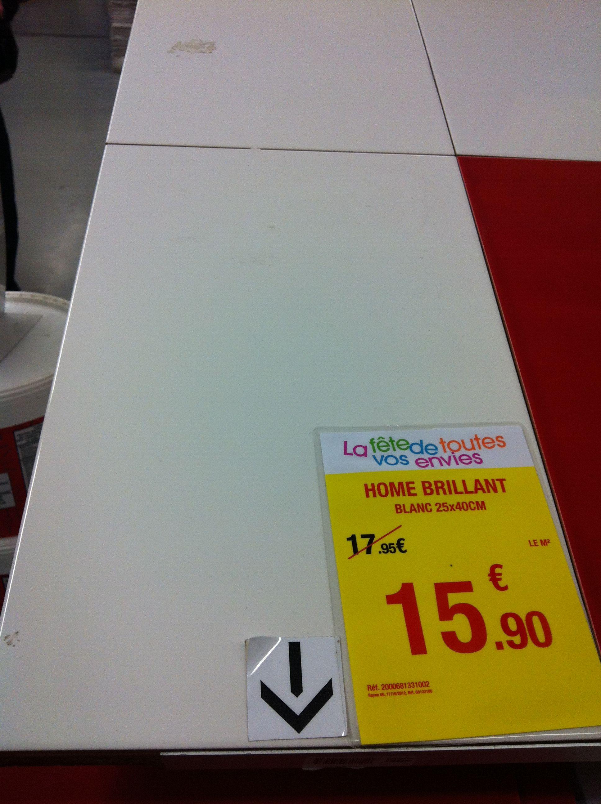 Leroy merlin 25x40 blanc