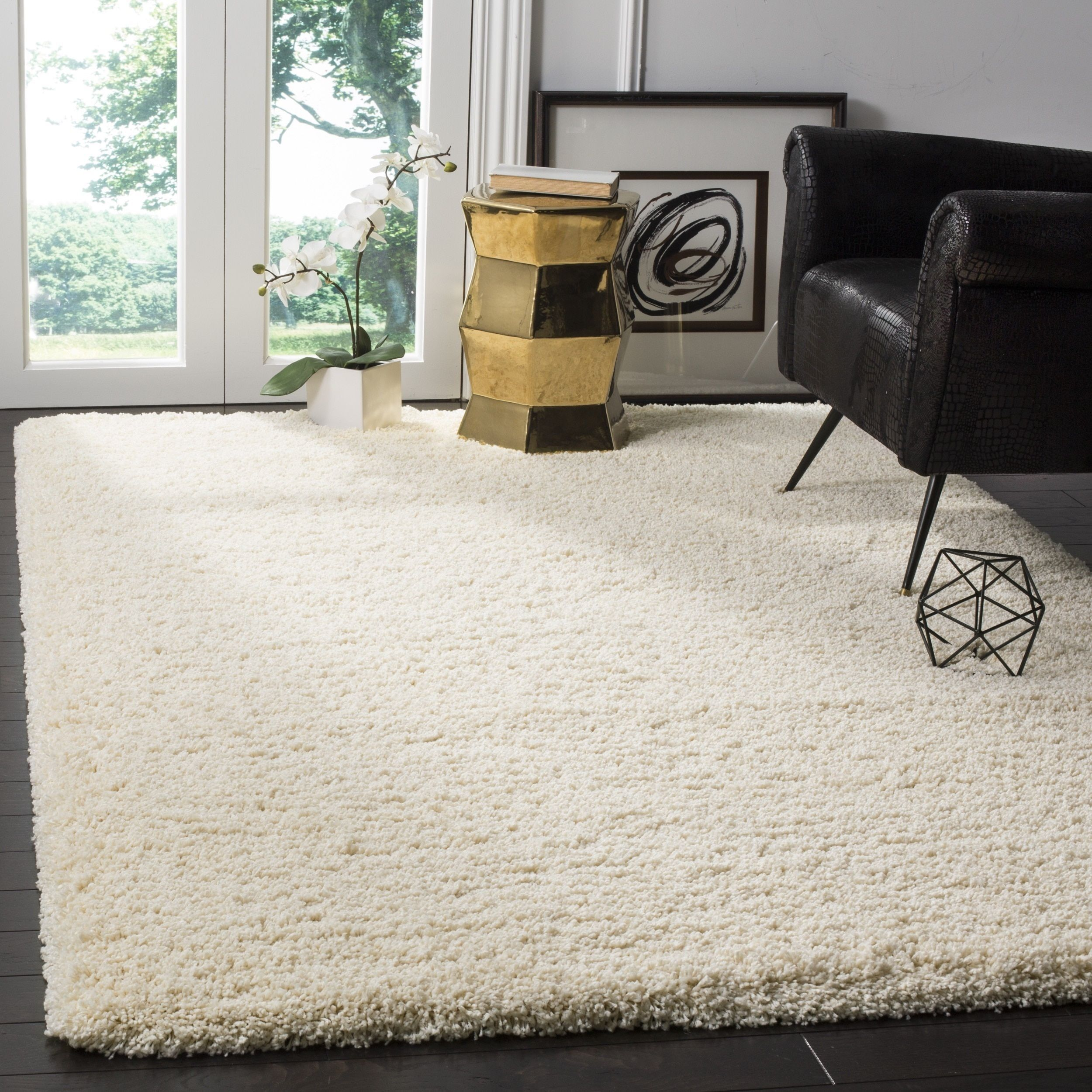 Safavieh California Cozy Plush Ivory Rug 8 6 Square Sg151 1212 9sq Size 9 X Polypropylene Solid