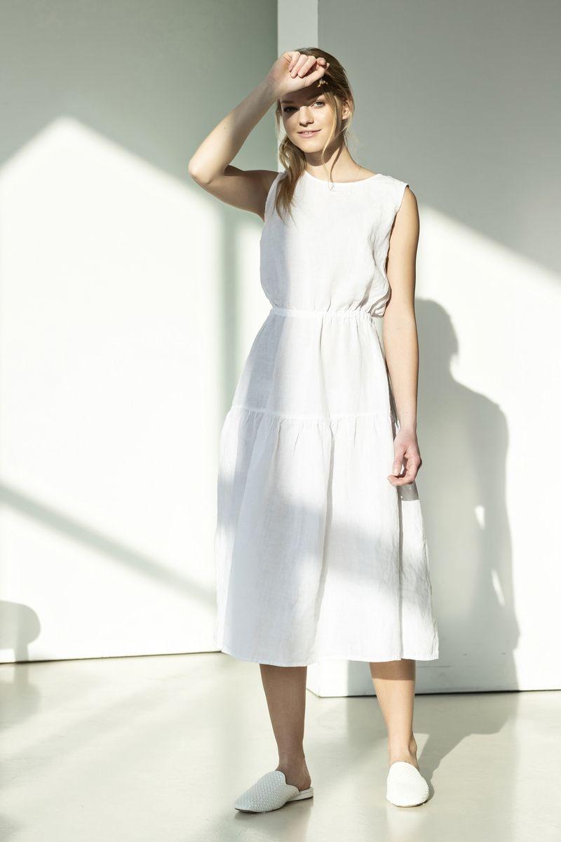 White Linen Dress May Va [ 1200 x 800 Pixel ]