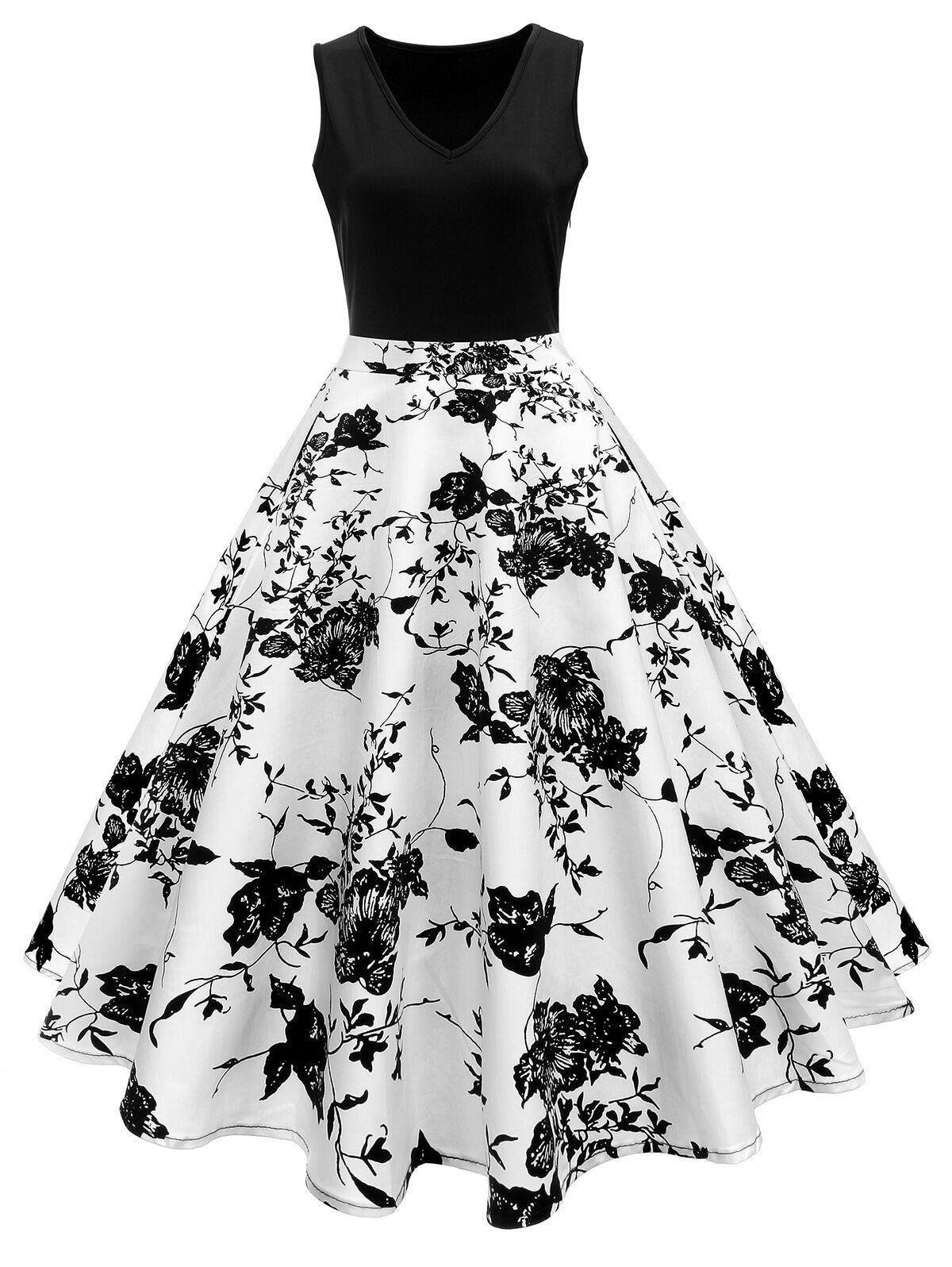 18s Floral Swing Dress in 18  Kleider, Edle kleider, Retro