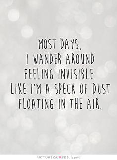 Feel like being alone
