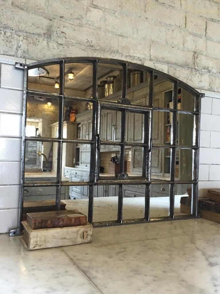 Slow Arch Cast Iron Window Frame Mirror Architectural-industrial ...