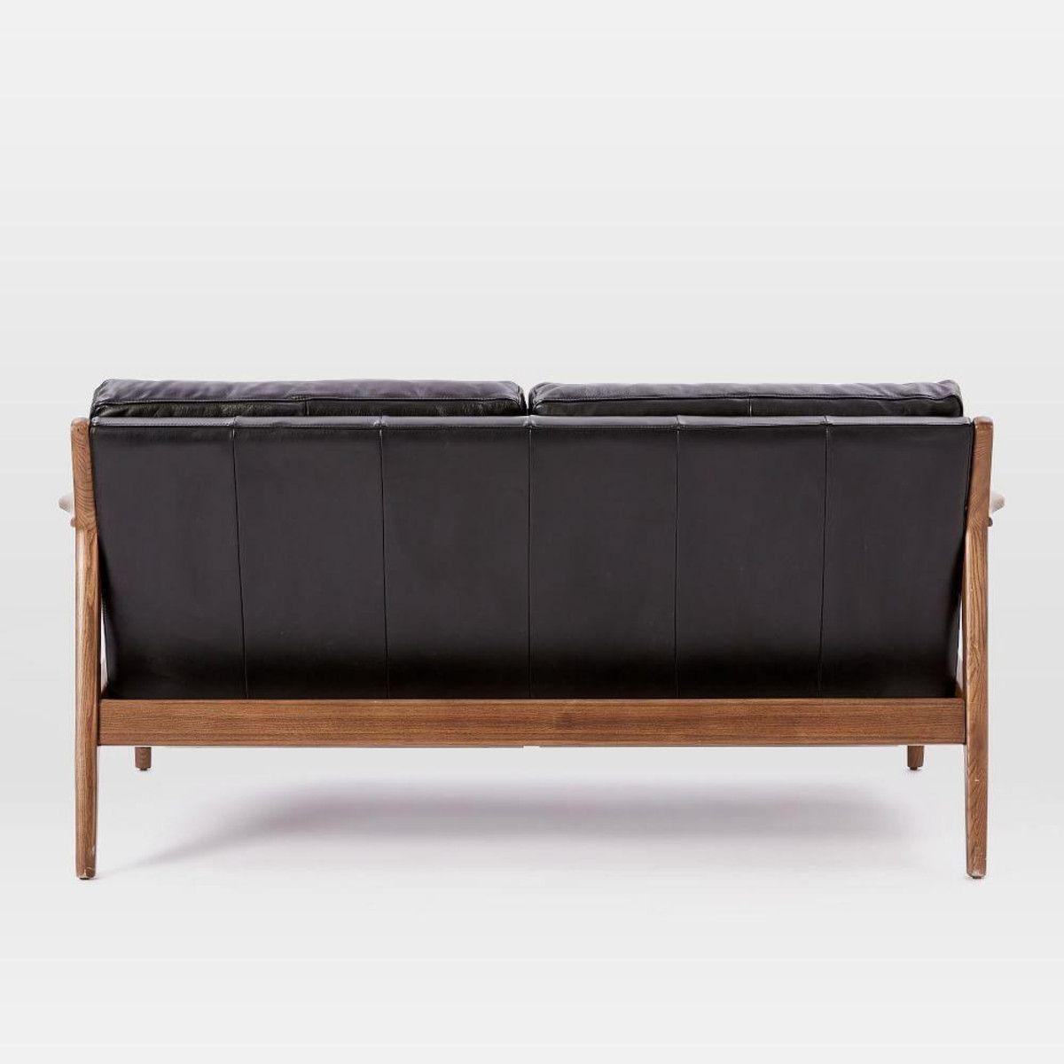 west elm - mathias mid-cy wood frame loveseat | gift - l : loft ...