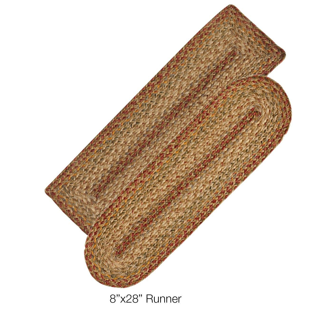 Best Harvest Jute Braided Stair Treads Or Table Runner Stair 400 x 300