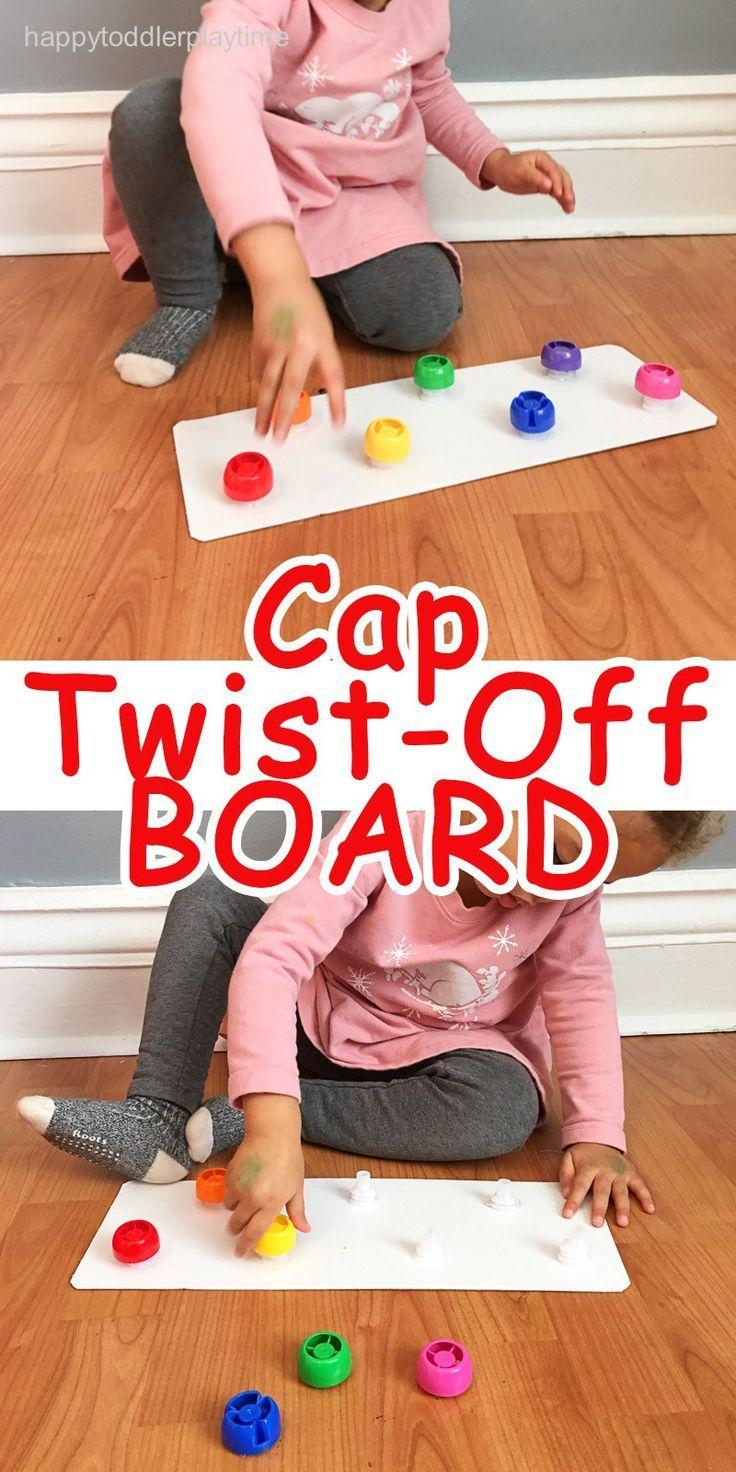CAP TWIST-OFF BOARD - HAPPY TODDLER PLAYTIME