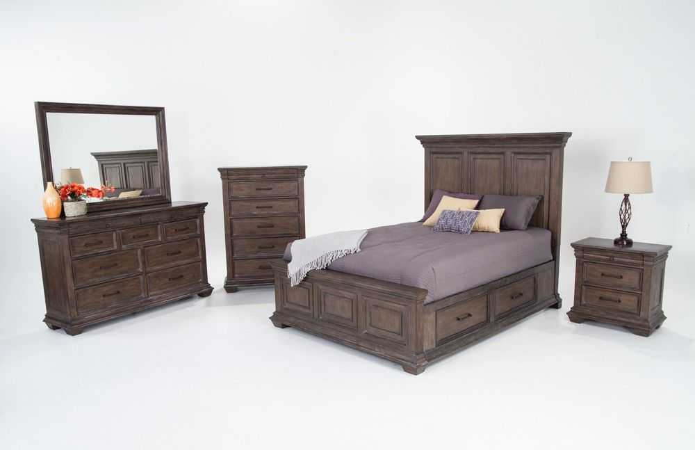 Bedroom Set in a Weathered Gray Finish For the love of remodeling