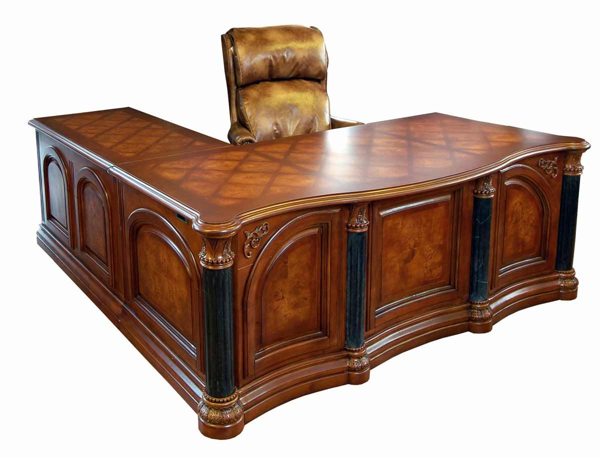 Executive desk monte carlo executive cherry office l shaped desk