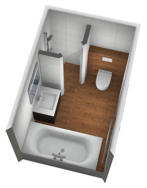 Badkamerontwerp met keramische houtlook tegels 3d for Inrichting badkamer 3d
