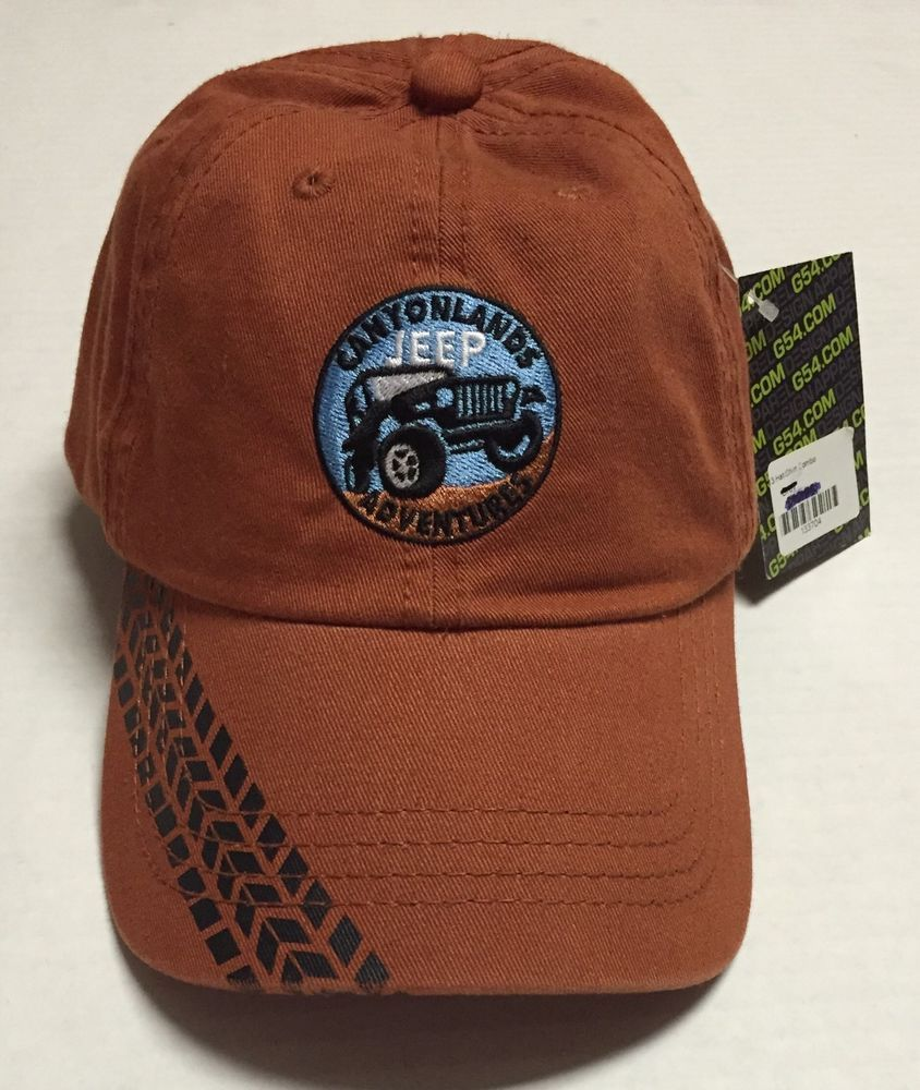 5cf43f8599a3d Details about Canyonlands Jeep Adventures Hat Moab Utah Baseball Cap Car  Rentals New With Tags