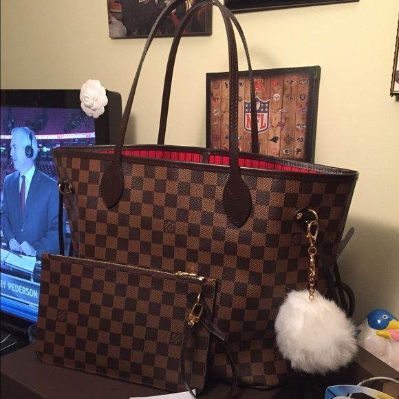 3b801f4553 Louis Vuitton neverfull mm damier ebene No flaws. Used for one week. 100%  authentic. Comes with dust bag and tags. Date code SD3175.