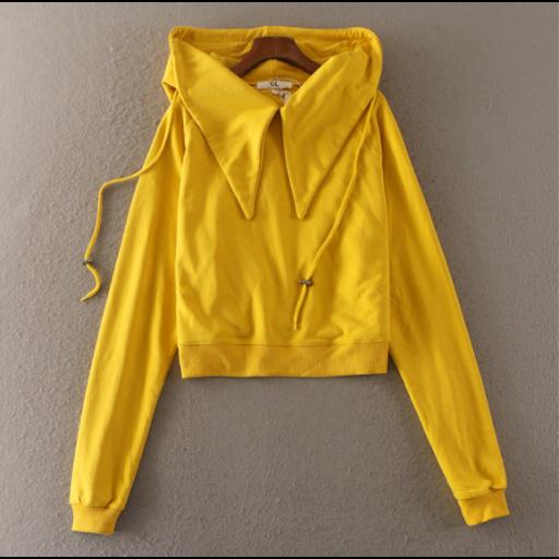 تيشرتات بنات شتوية بتصميم عصري تيشرتات صوف خفيف بأكمام طويلة تيشرتات سادة متوفرة بألوان متعددة اصفر اسود ابيض Rain Jacket Fashion Raincoat