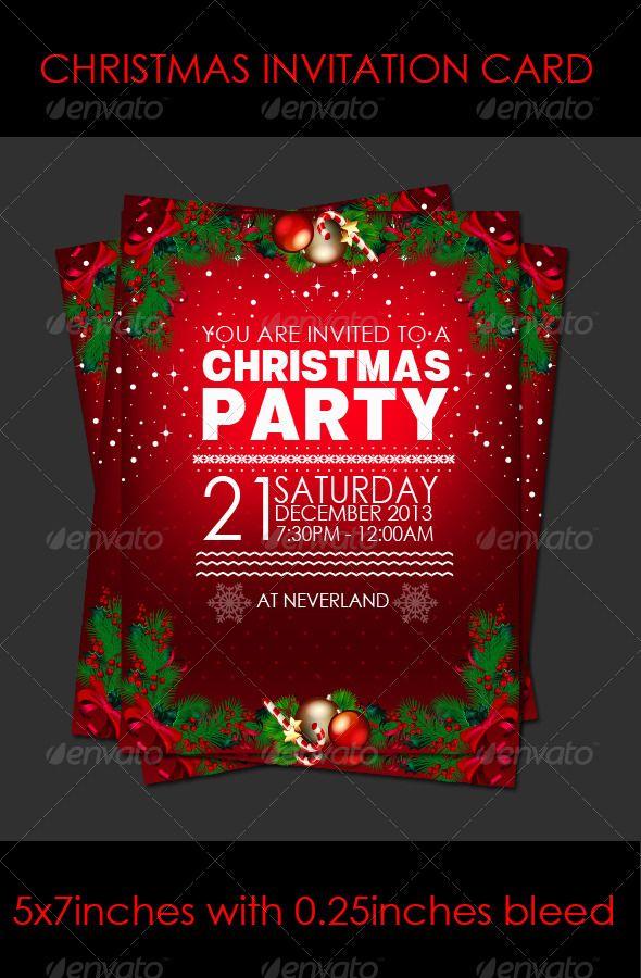 Christmas party invitation card cards invites christmas christmas party invitation card cards invites stopboris Gallery