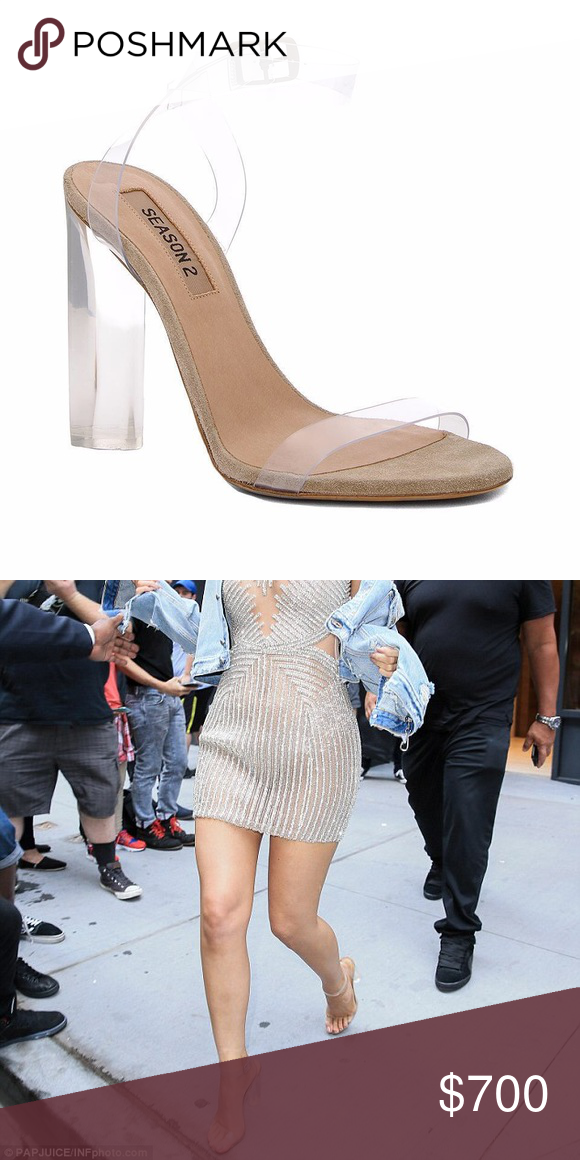Yeezy Season 2 Lucite Heels Precious clear ankle strap pumps. New without  tags! Size 40. Not my size unfortunately Yeezy Shoes