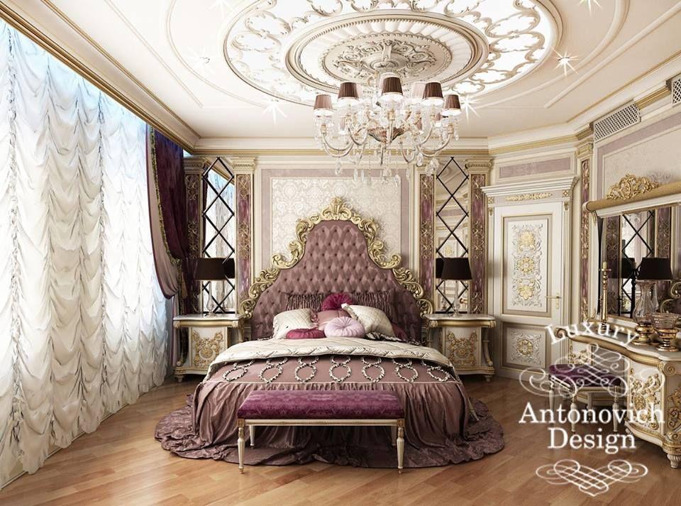 Именно так выглядит интерьер королевской спальной комнаты!...Приятного наслаждения Смайлик «wink» - antonovich-design.ru