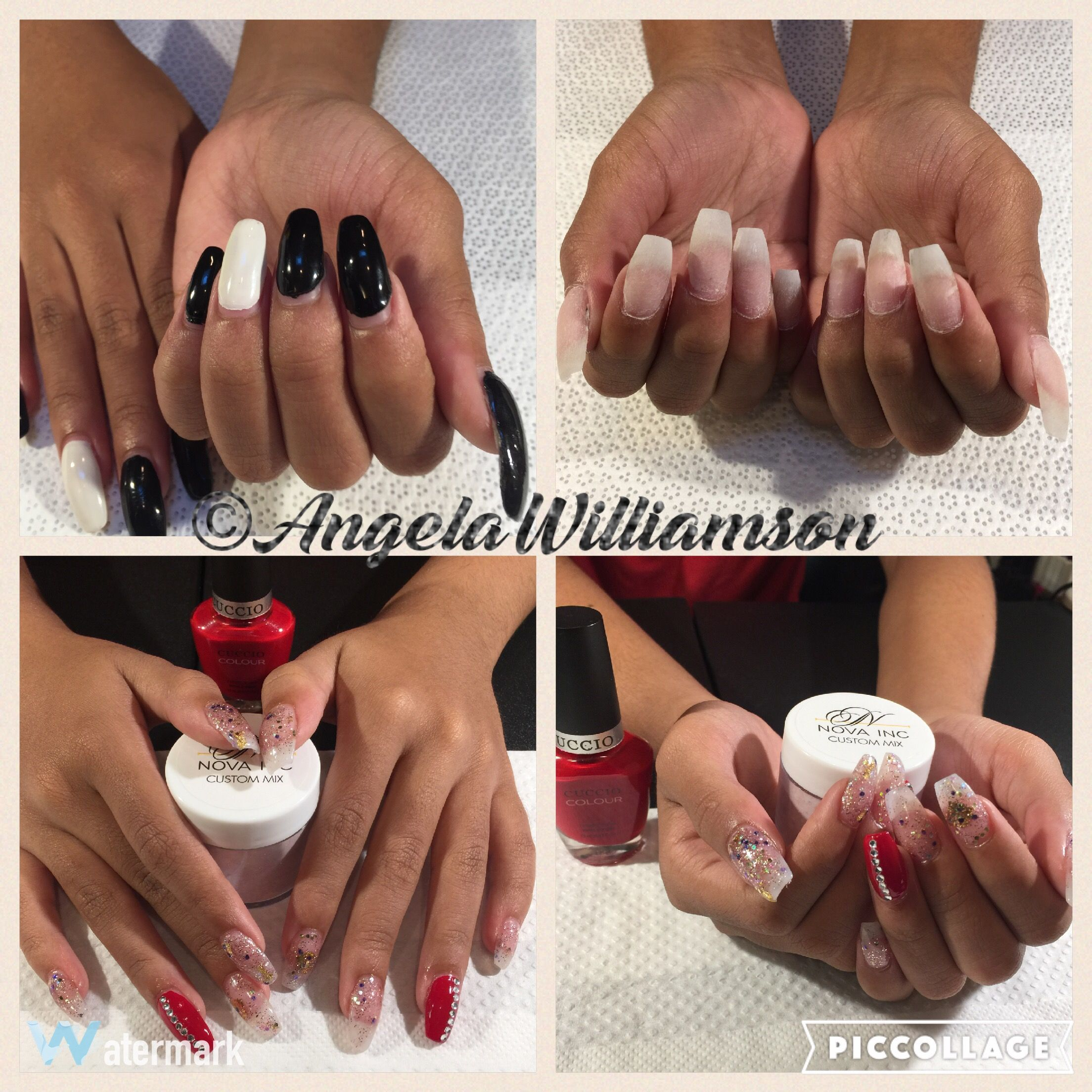 Acrylic Rebalance With Nova Nails Inc Custom Mix Sweet Love And Cuccio Polish A Kiss In Paris Nailtchlife Ilovewhatido Itsapion