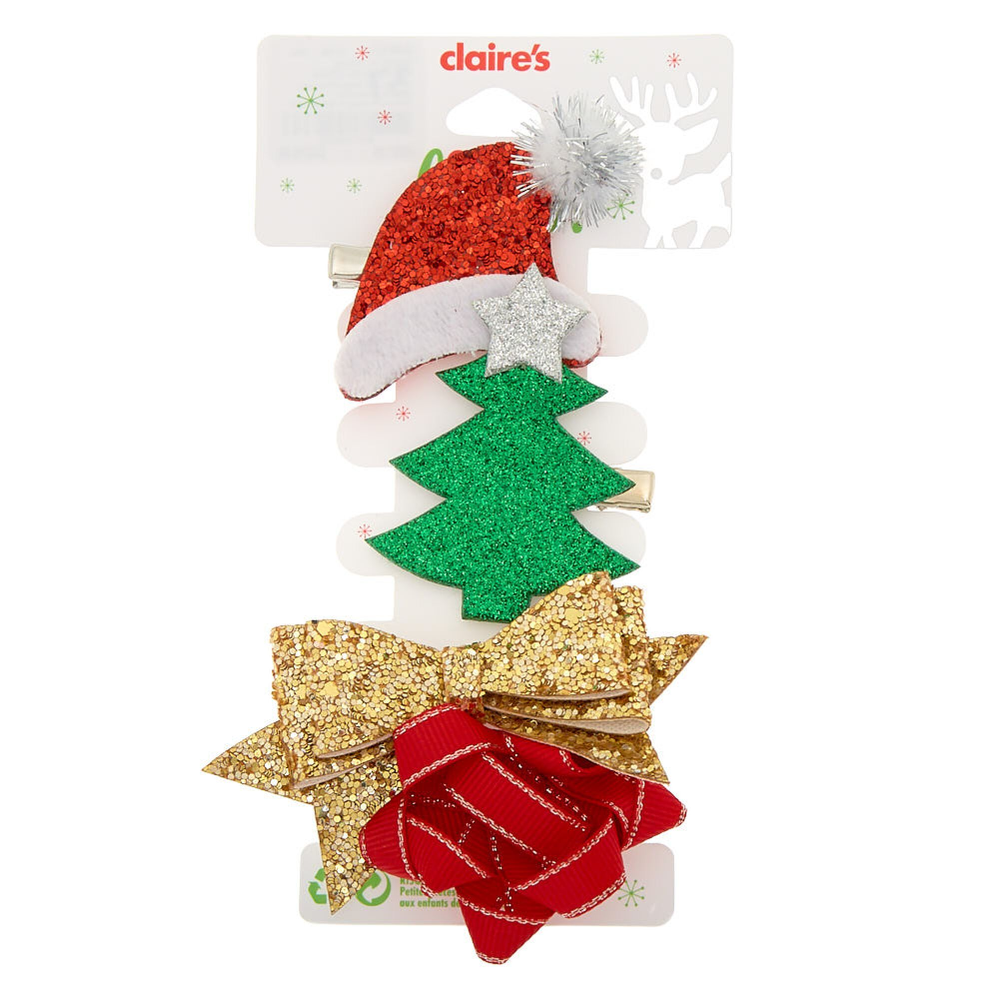 Christmas Hair Clips 4 Pack Christmas Hair Hair Clips Christmas