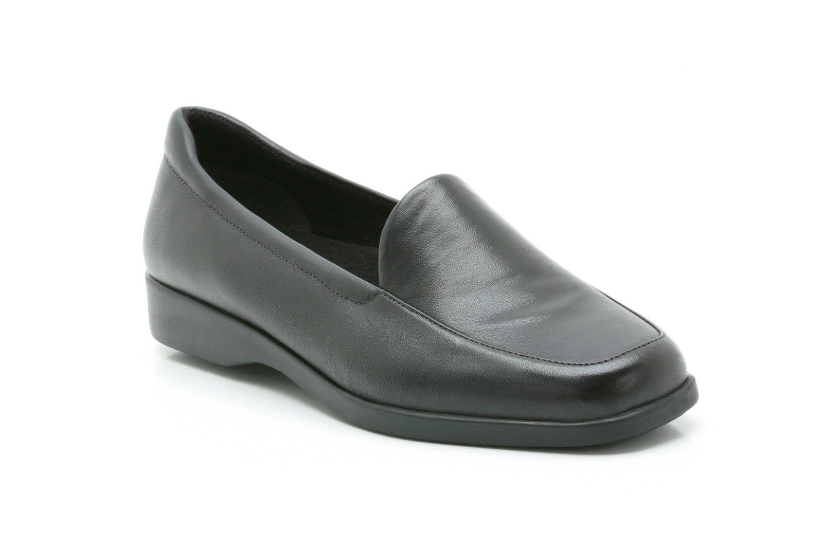 Ladies Black Clarks Shoes Slip On