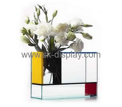 Acrylic Display Supplier Customized Clear Acrylic Flower Vase Sod