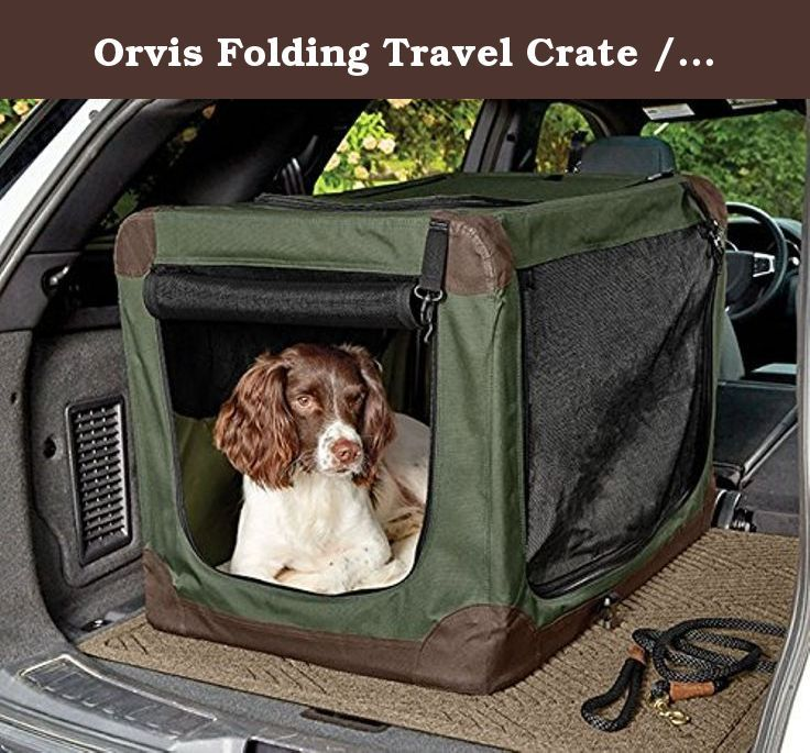 Orvis Folding Travel Crate Medium Dogs 40 70 Lbs Medium The